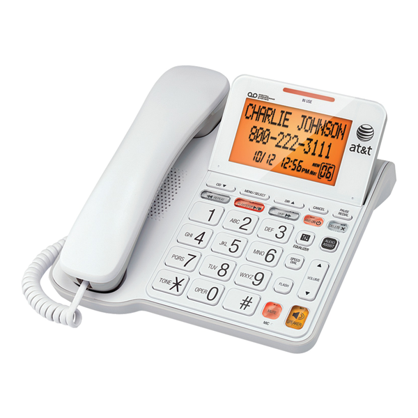 Image of AT&T CL4940 Corded Phone with Answering System and Caller ID