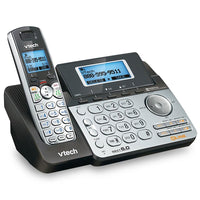 VTech DS6151 Dect 6.0 2-Line Expandable Cordless Phone with Digital Answering System and Caller ID: 2-line answering system