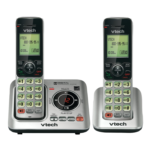 Image of VTech CS6629-2 Cordless Phone with 2 Handsets, Answering System and Caller ID