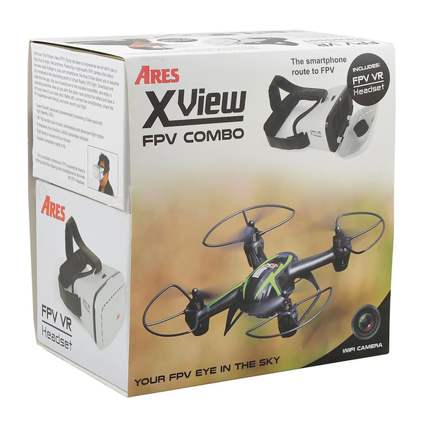 Ares XView FPV Mini Quadcopter Drone with VR Headset