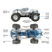 Helion Conquest 10MT XLR 1:10 Scale 2WD RC Truck