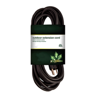 GoGreen Heavy-Duty Outdoor Power Extention Cord - Black: 8'