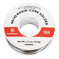 "SnPb 60/40 Rosin-Core Solder: 0.032""  /  2.5 Oz."