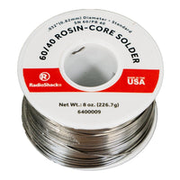 "SnPb 60/40 Rosin-Core Solder: 0.032""  /  8 Oz."
