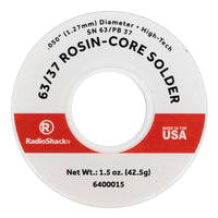"SnPb 63/37 Rosin-Core Solder, 0.050"" Diameter - 1.5 oz."