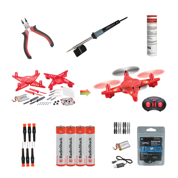 DIY Drone Bundle with Tools, Batteries & Spare Parts