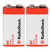 9V Alkaline Batteries: 2-pack