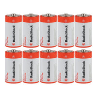 C Alkaline Batteries: 10-pack