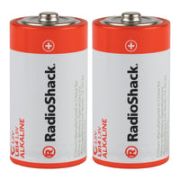 C Alkaline Batteries: 2-Pack