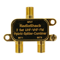 Gold-Plated 2-Way 900MHz UHF/VHF/FM Coaxial Splitter/Combiner