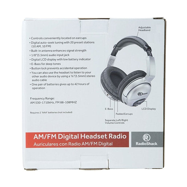 AM/FM Stereo Headset Radio