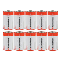 D Alkaline Batteries: 10-pack