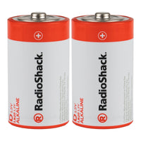 D Alkaline Batteries: 2-pack