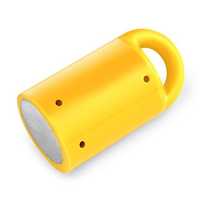 MagnetPAL Heavy-Duty Neodymium Anti-Rust Magnet with Multiple Uses: Single  		 /  Yellow