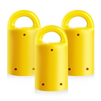 MagnetPAL Heavy-Duty Neodymium Anti-Rust Magnet with Multiple Uses: 3-Pack  		 /  Yellow