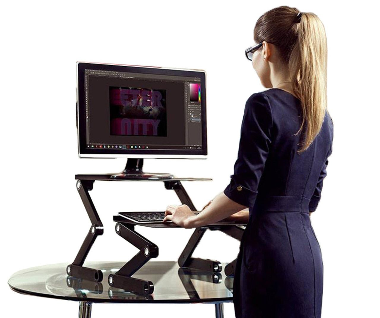 Uncaged Ergonomics Workez Standing Desk: Sit/stand-up Standing Desk Riser For Laptops