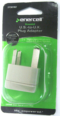 Grounded US to UK Travel Adapter Plug