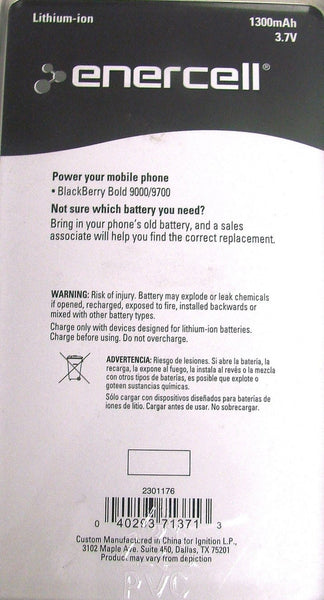 3.7V/1300mAh Li-ion Battery for BlackBerry Bold 9000/9700 M-S1