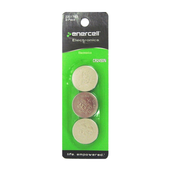 CR2450 3V Lithium Button Cell Battery, 3-Pack