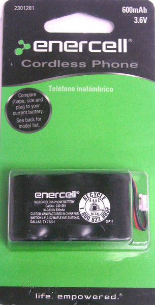 3.6V/600mAh Ni-Cd Cordless Phone Battery replaces GE 5-2729