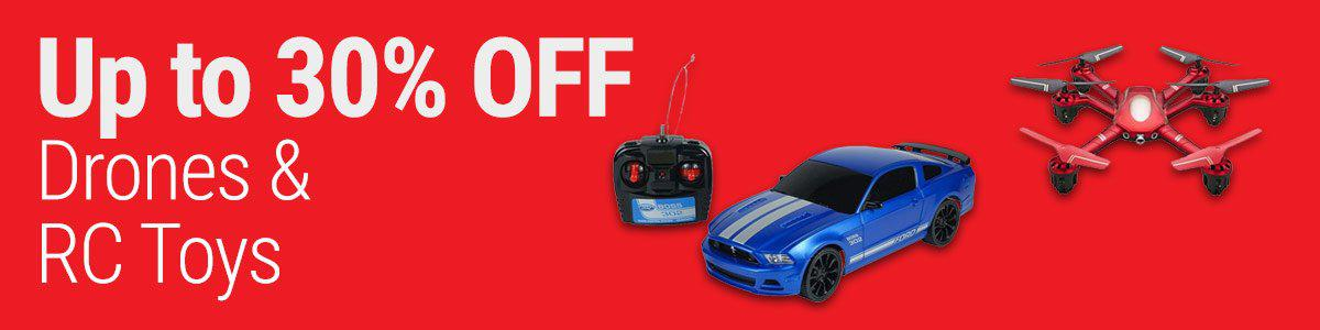 Up to 40% OFF Drones & RC Toys