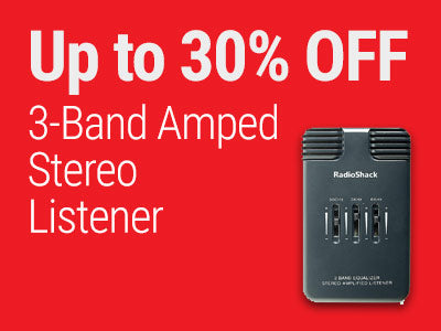 Up to 30% OFF RadioShack 3-Band Amped Stereo Listener