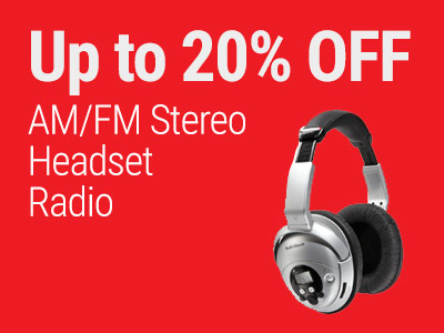 Up to 20% OFF RadioShack AM/FM Stereo Headset Radio