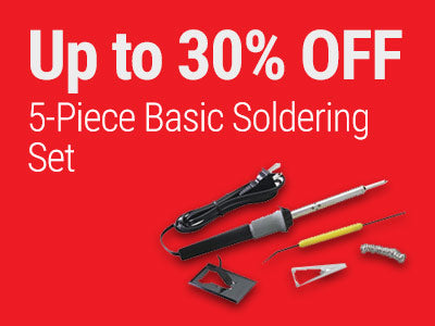 Up to 30% OFF RadioShack 5-Piece Basic Soldering Set