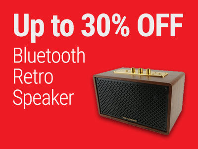 Up to 30% OFF Realistic Bluetooth Retro Speaker