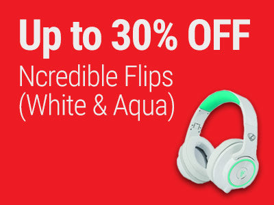 Up to 30% OFF Ncredible Flips (White & Aqua)