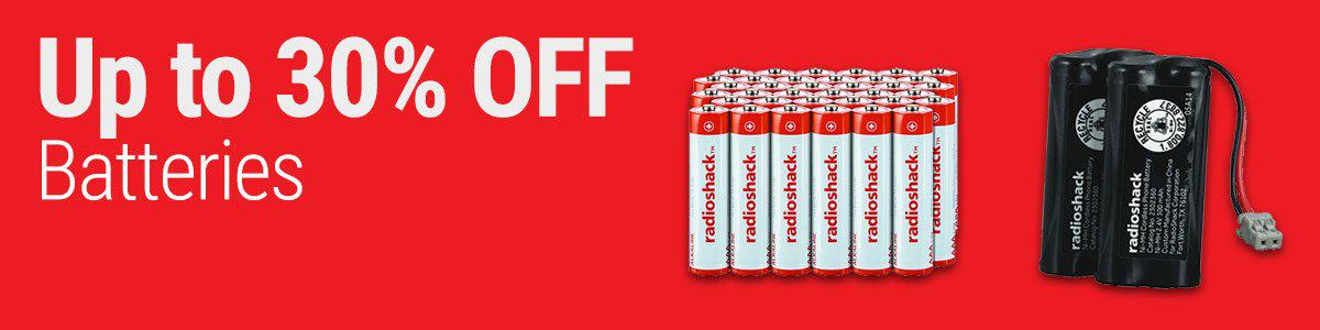 Up to 30% OFF Batteries