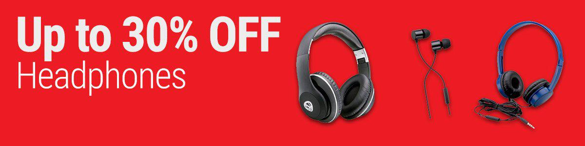 Up to 30% OFF Headphones