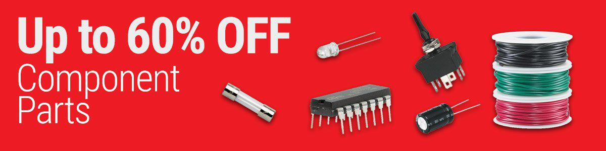 Up to 60% OFF Component Parts