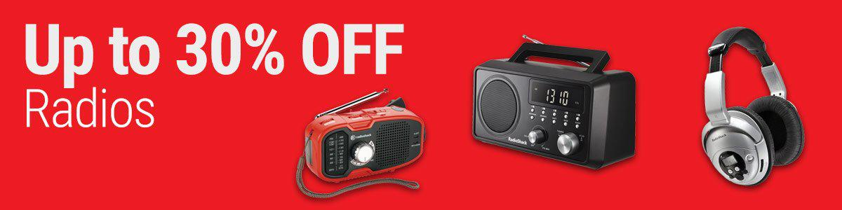 Up to 30% OFF Radios