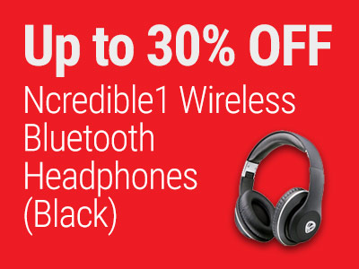 Up to 30% OFF Ncredible1 Wireless Bluetooth Headphones (Black)