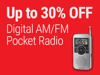 Up to 30% OFF RadioShack Digital AM/FM Pocket Radio