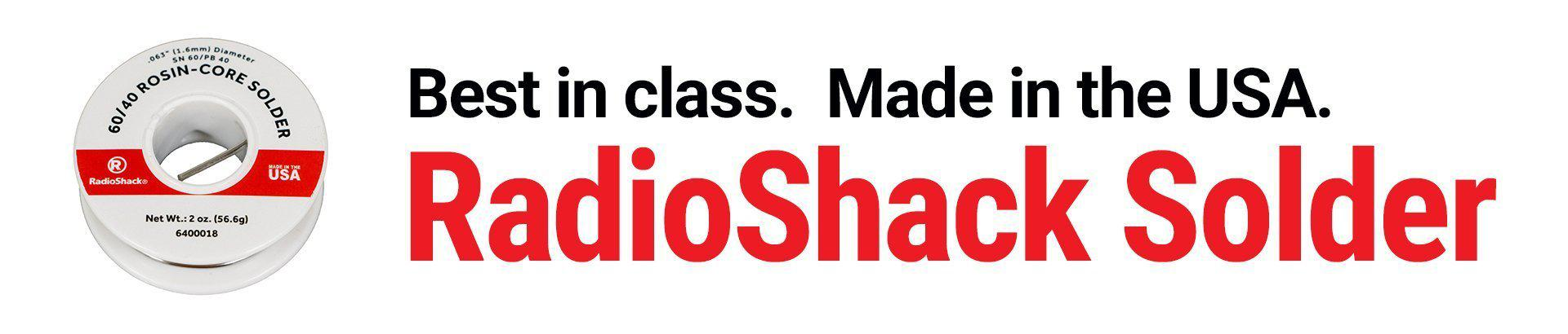 RadioShack Solder: Best in class. Made in the USA.