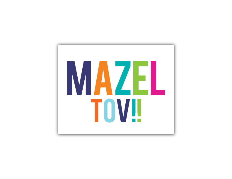 Multi 2 Mazel Tov Card