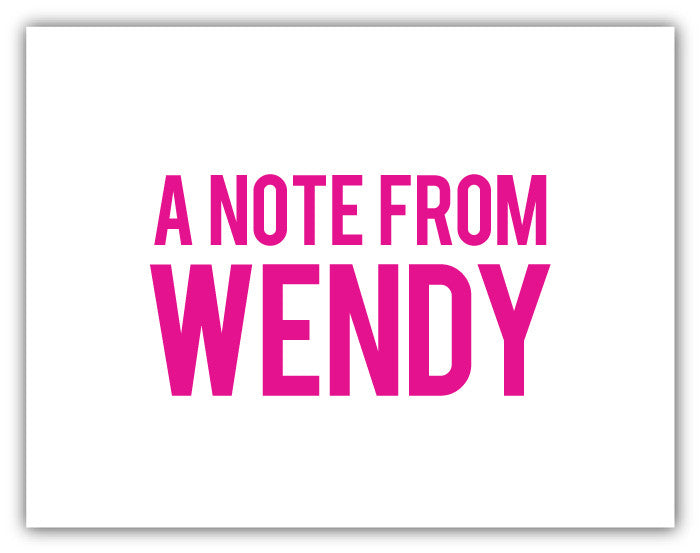 Notecard - A Note From... Hot Pink