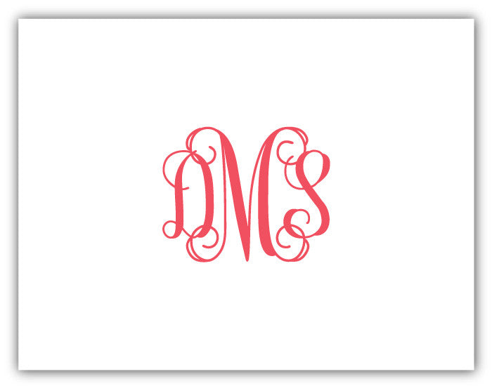 Notecard - Fancy Monogram (more colors)