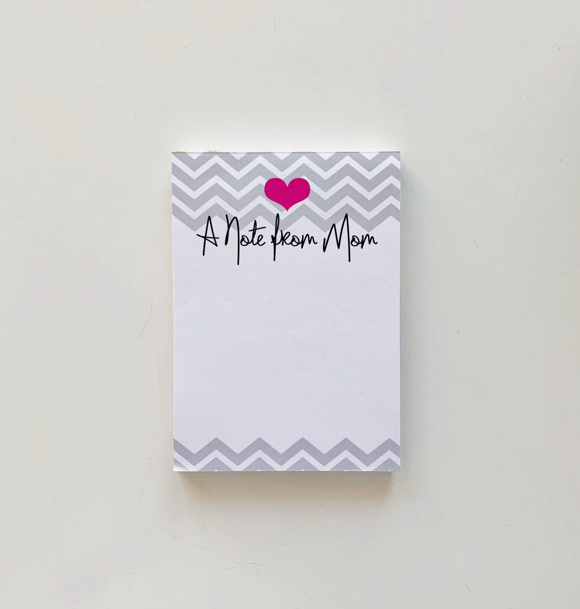 Chevron A Note from Mom Notepad