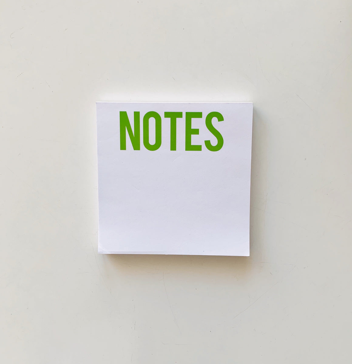 NOTES Green Square Notepad
