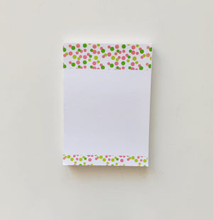 Pink + Green Confetti Notepad
