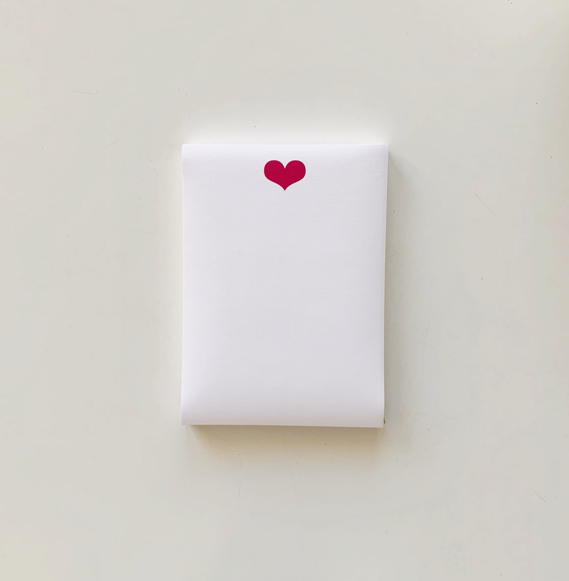 Hot Pink Heart Notepad