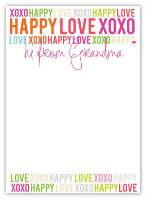 Happy Love XOXO Grandma Notepad