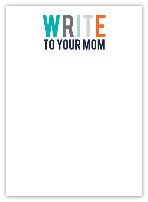 Write To Your Mom Camp Notepad