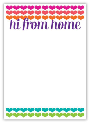 Hi From Home Hearts Notepad