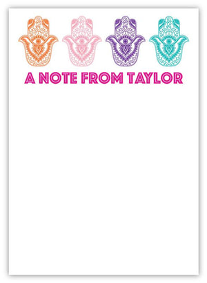 Hamsa Personalized Notepad