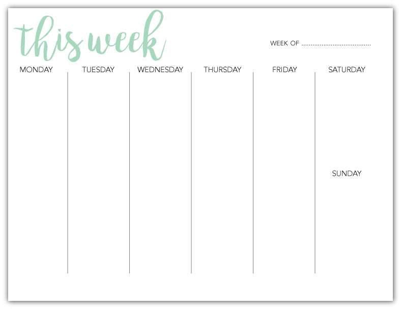 Weekly Deskpad This Week
