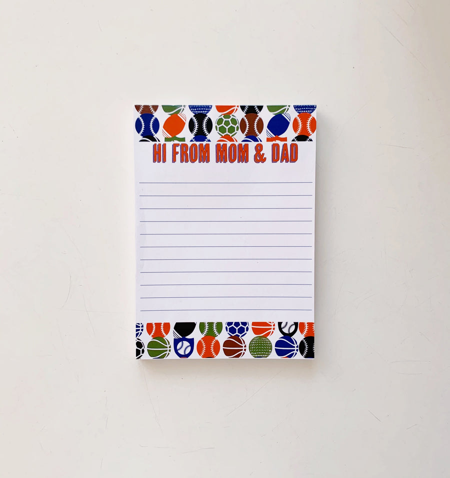 Sports Mom + Dad Notepad